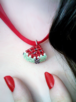 Watermelon Wedge Necklace by Angelic-Goth