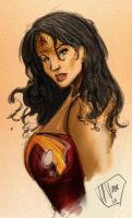Wonder Woman Doodle by R3belli0n