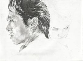 Glenn and Maggie WIP 2 by michaelmdw
