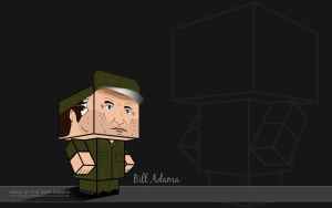 G.I. Bill Adama Wallpaper I by BSG75