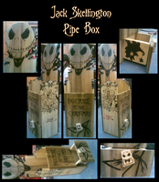 Jack Skellington Pipe Box by valentinevar