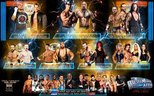 Wrestlemania 28 Match card! by isharkfeli