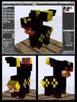 Minecraft Zombie Umbreon Mob v-0.5.0 by FuzzyAcornIndustries