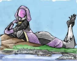 Technicolor Redux - Giga Tali'Zorah by Colonel-Gabbo