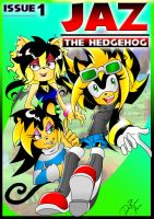 Jaz the Hedgehog Issue 1 cover by MoonShadowDRAE