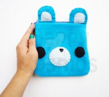 Blue Bear Pouch by CosmiCosmos