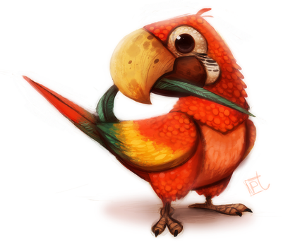 Daily Painting 612# Macaw by Cryptid-Creations