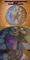 Mulan Stained Glass On Glass 1st Attempt by Akili-Amethyst