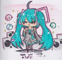 Miku- Thank You! by TriSarahTopss