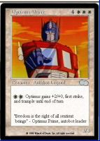Optimus Prime card by Tormakir