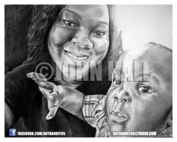 Woman and Child by futuristicstyle