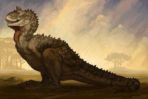 Carnotaurus by BrynnMetheney
