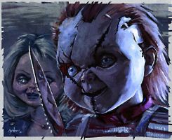 Chucky + Tiffany by princendymion