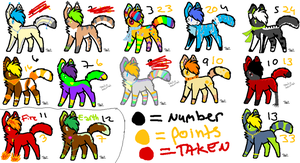 Adopts batch 10 by Foxxyheartz