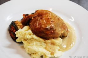 Roasted Chicken with Mashed Potato by FreakShowHouse