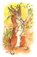 Dance of leaves by CanisAlbus
