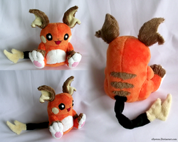 Raichu Plush by xBrittneyJane