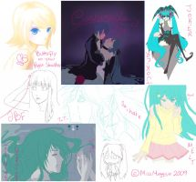 November 09 Vocaloid WIPs by MissMeggsie