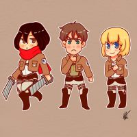 Chibi Titan Killers by nyatche