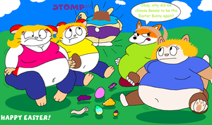 FAT ART: A new Easter Bunny by Maxtaro
