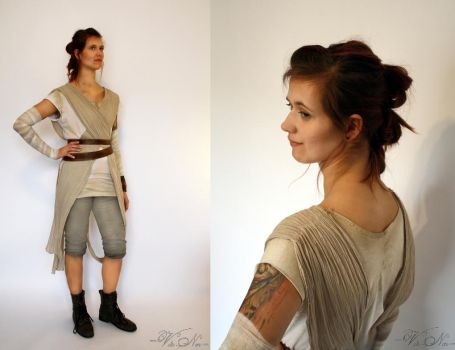 The Force Awakens Rey Cosplay Star Wars Costume by Volto-Nero-Costumes