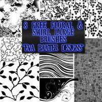 Large Floral and Swirl Brushes by EvaTakesNoPrisoners
