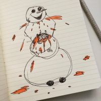 A snowman also is tired of winter by tenebricosa