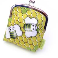 Zombee coin purse with clasp by Eskimimi