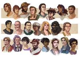 Galatea Character Portraits by elontirien