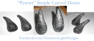 Costume Horns: Pewter by HuntressLight
