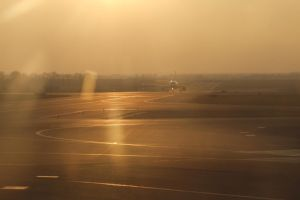 Taxiing in Prague by Tingil