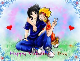 Sasunaru Valentine by watermelon-kaiye