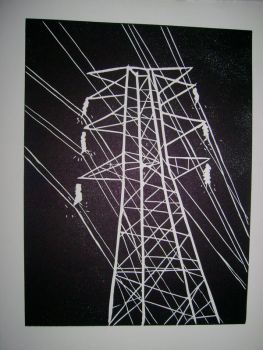 High tension wires by somewhatgolden