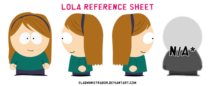 South Park reference sheet: Lola by hercamiam