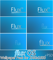 Flux OS Wallpaper pack for 2560x1600 +PSD by cyogesh56