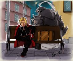 FMA- Elric Bros by Goldman-Karee
