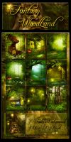 Fantasy WoodLand backgrounds by moonchild-ljilja