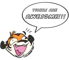TIGERS R AWESOME by kayjkay
