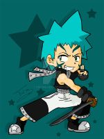 Black Star Chibi by Taichia
