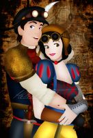Steampunk Snow White and The Prince by HelleeTitch