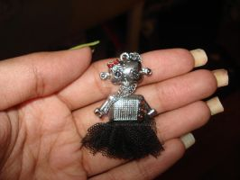 Robot Necklace by PSherman42WallabyWay
