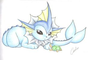 PKMN: Eeveelutions - Vaporeon by Carro-chan