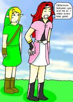 Link and Zelos by Midnas