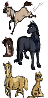 Wholock and Portal horses by Fonora