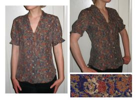 Floral Blouse by KingNapoleon