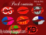 8  Kiss Social  icons by koidesign
