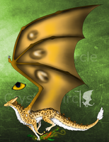 CE- Leopard forest spirit dragon design by CrystalCircle