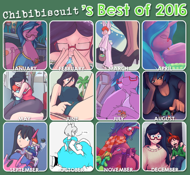 My Year in Art [2016] by chibiBiscuit