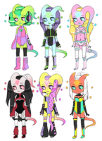 Alien Girls Adoptables || by Tenshilove