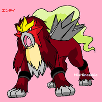 Entei by MiaHinasakie